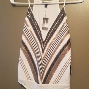 New with Tags, Express Sequined Bodysuit - Size S